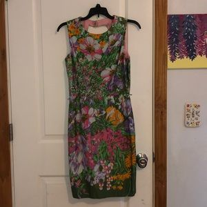 Muse Floral Back Cut-Out Dress